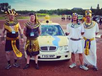 Egyptians, banger rally, charity rally, road trip