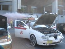 ghostbusters, banger rally, charity rally, road trip