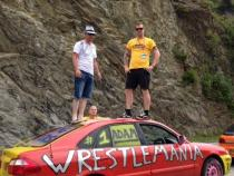 wrestlers, banger rally, charity rally, road trip, wacky rally