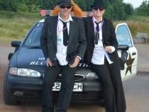 Blues Brothers, banger rally, charity rally, road trip