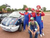 mario brothers, banger rally, charity rally, road trip