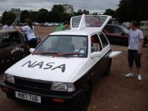 NASA, banger rally, charity rally, road trip