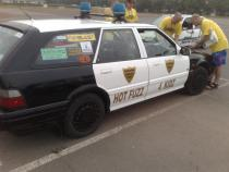 police, banger rally, charity rally, road trip