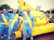 Thunderbirds, banger rally, charity rally, road trip