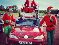 Christmas, banger rally, charity rally, road trip