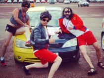 Hoff, banger rally, charity rally, road trip