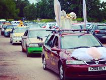 Bunny, banger rally, charity rally, road trip